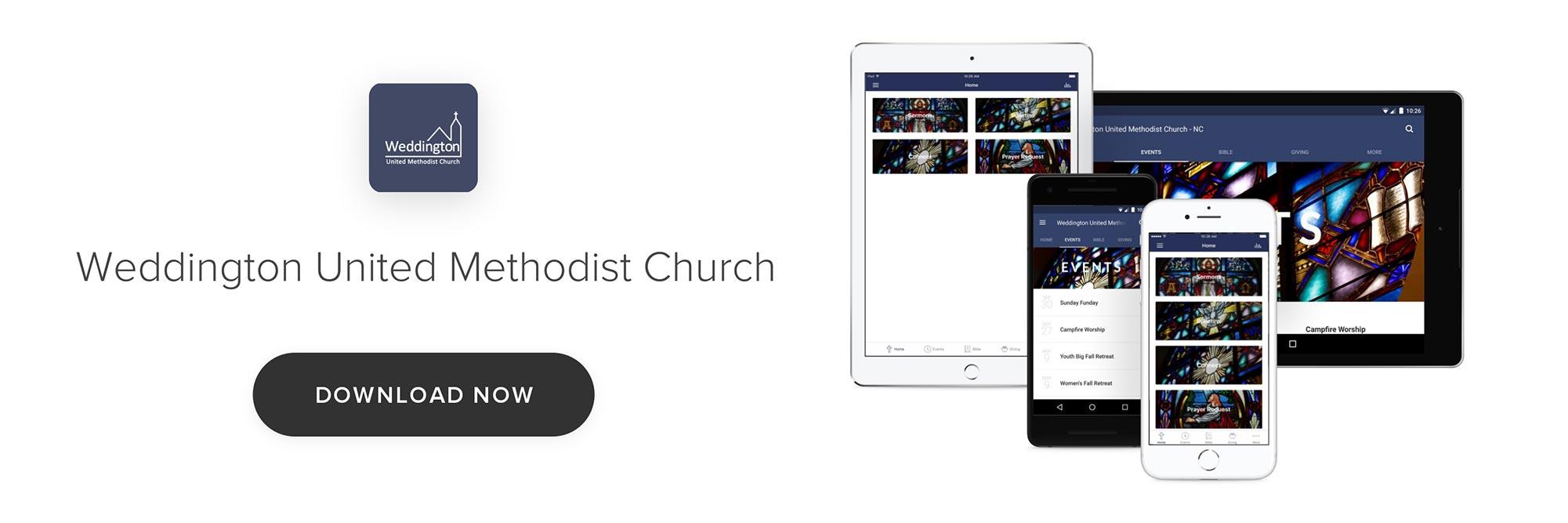 Weddington Church App Screenshots